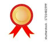 award rosette gold and red...   Shutterstock .eps vector #1731482599