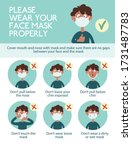 infographics. wear your face... | Shutterstock .eps vector #1731487783