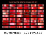 red ruby glossy gradient  metal ... | Shutterstock .eps vector #1731491686