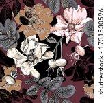 seamless wallpaper pattern.... | Shutterstock .eps vector #1731530596