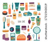 a set of cosmetics for skin... | Shutterstock .eps vector #1731543019