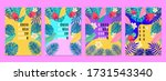 summer tropical covers...   Shutterstock .eps vector #1731543340