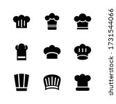 chef hat  icon or logo isolated ... | Shutterstock .eps vector #1731544066