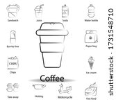 fast food coffee outline icon....