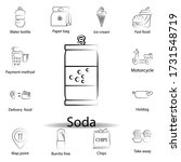 fast food soda outline icon....