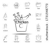 fast food chicken outline icon. ...