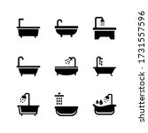 bathtub  icon or logo isolated... | Shutterstock .eps vector #1731557596