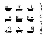 bathtub  icon or logo isolated... | Shutterstock .eps vector #1731557599