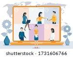 online meeting.video conference....   Shutterstock .eps vector #1731606766