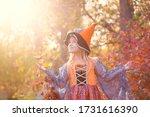 beautiful little blonde girl ... | Shutterstock . vector #1731616390