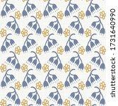seamless daisy pattern in... | Shutterstock .eps vector #1731640990