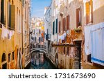 A Small Canal Street In Venice...