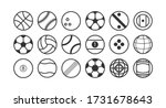 sport ball flat line design...