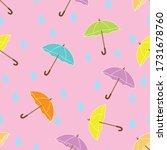Colorful Umbrella Seamless...