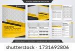 set of bifold brochure template ... | Shutterstock .eps vector #1731692806