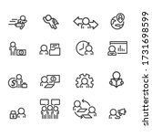 business and office icons set... | Shutterstock .eps vector #1731698599
