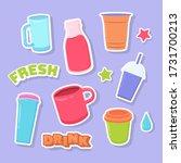 beverages sticker  pin  badge ... | Shutterstock .eps vector #1731700213