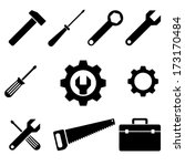 icons of tools. vector set. eps8 | Shutterstock .eps vector #173170484