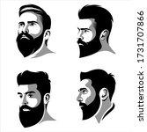 cool beard man vector logo...   Shutterstock .eps vector #1731707866