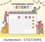event point event poster. small ... | Shutterstock .eps vector #1731724393