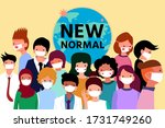 new normal lifestyle concept... | Shutterstock .eps vector #1731749260
