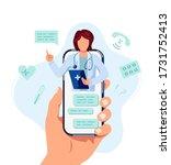 tele medicine  online doctor... | Shutterstock .eps vector #1731752413