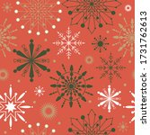 seamless snowflakes shape with... | Shutterstock .eps vector #1731762613