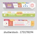 flat style vector header... | Shutterstock .eps vector #173178194