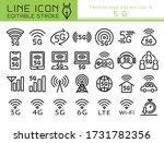 5g vector icon set. editable... | Shutterstock .eps vector #1731782356