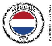 netherland grunge flag on... | Shutterstock . vector #173178263