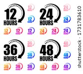 8  12  24  48 and 72 hours... | Shutterstock .eps vector #1731783610