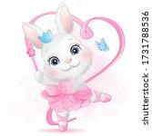 Cute Little Bunny With Ballerina
