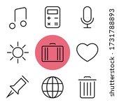 web set icons. thin line icons...