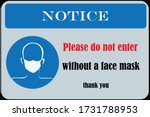 wear face mask sign and symbol. ... | Shutterstock .eps vector #1731788953