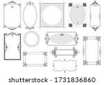 set of ornate frames and... | Shutterstock . vector #1731836860