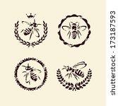 Bee Set. Vector