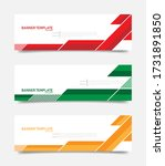 set of abstract banners... | Shutterstock .eps vector #1731891850