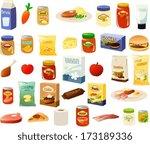 vector illustration of a set of ... | Shutterstock .eps vector #173189336