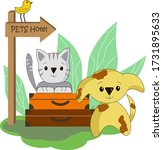 Hotel For Pets. Animals With...