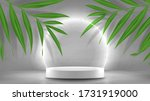 promo banner with podium and... | Shutterstock .eps vector #1731919000