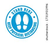 stand here and keep physical... | Shutterstock .eps vector #1731931996