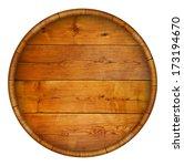 Round Wooden Barrel. Vector...