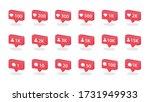 3d notification icon. social...   Shutterstock .eps vector #1731949933
