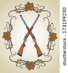 rifle vector  | Shutterstock .eps vector #173199230