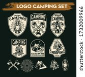 camping and hiking logo design  ... | Shutterstock .eps vector #1732009966