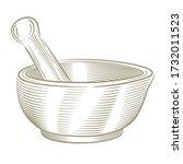 vector pharmaceutical mortar... | Shutterstock .eps vector #1732011523