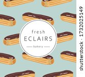 seamless pattern with french... | Shutterstock .eps vector #1732025149
