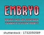 pixel vector alphabet design ... | Shutterstock .eps vector #1732050589