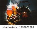 still life image of date fruit... | Shutterstock . vector #1732062289