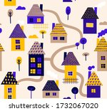 seamless pattern with different ... | Shutterstock .eps vector #1732067020